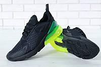 Кроссовки мужские Nike Air Max 270 реплика ААА+ размер 41-45 черный (живые фото)