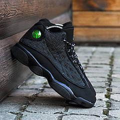 Мужские кроссовки Nike Air Jordan 13, Черные, Кожа, текстиль