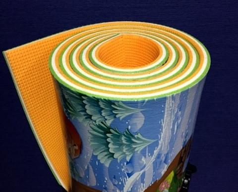 "Развивающий 3-х слойный  детский игровой коврик ""Мадагаскар"" 2000х1200х12мм"