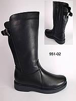Женские кожаные зимние сапоги на низком ходу, зимние сапоги от производителя модель КА951-02
