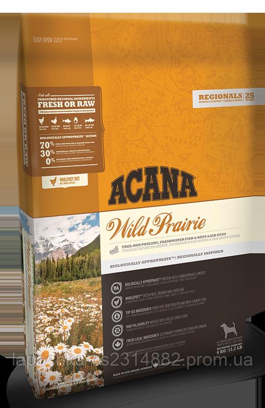 Корм Acana Wild Prairie Dog , для взрослых собак с цыпленком и индейкой
