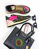 Женские кроссовки Valentino Garavani (Валентино) разноцветные, фото 3