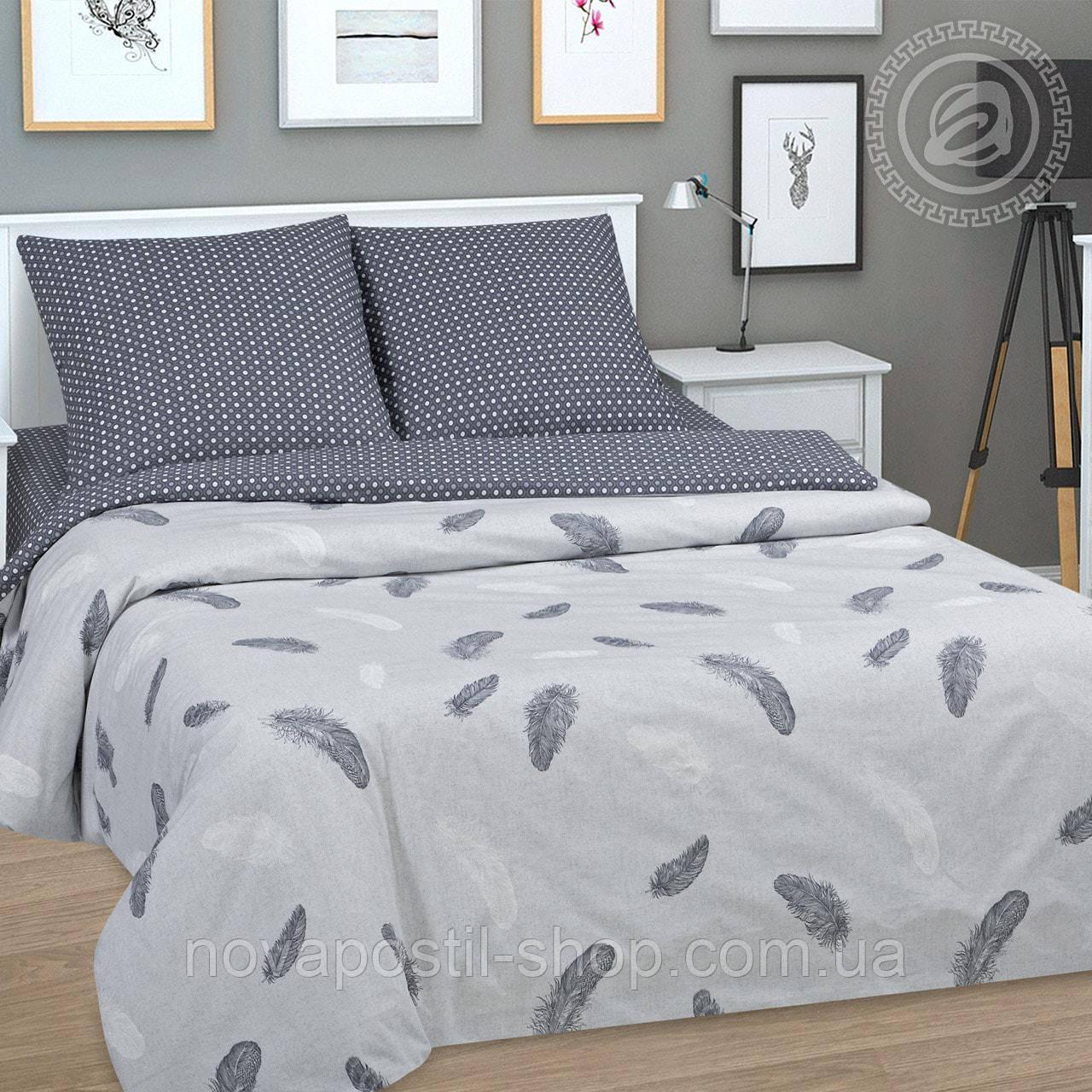 Ткань для постельного белья с перьями, поплин Феникс