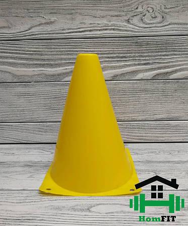 Фишка для разметки поля малая 18 см Цвет: желтый