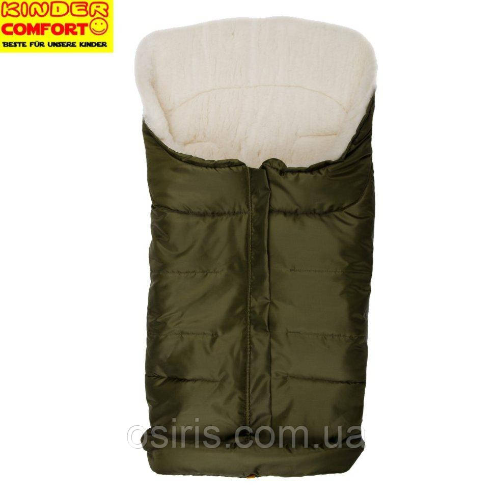 Конверт на овчине Kinder Comfort Arctic Темно-зеленый
