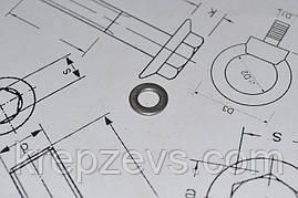 Шайба Ф5 плоска DIN 125 із сталі А4