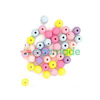 Бусины пластиковые круглые 8 мм, 10 г, МИКС