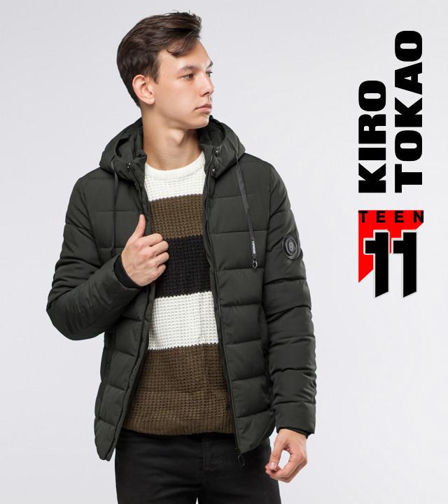 Курточка зимняя на молнии Kiro Tokao 6009-1 зеленый