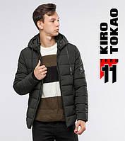 Курточка зимняя на молнии Kiro Tokao 6009-1 зеленый, фото 1