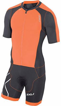 Мужской костюм для триатлона 2XU Compression Full Zip Sleeved (MT3613d)