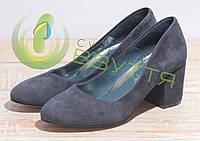 Туфли замшевые женские Leader style арт. 2179 син/з 37  размеры, фото 1