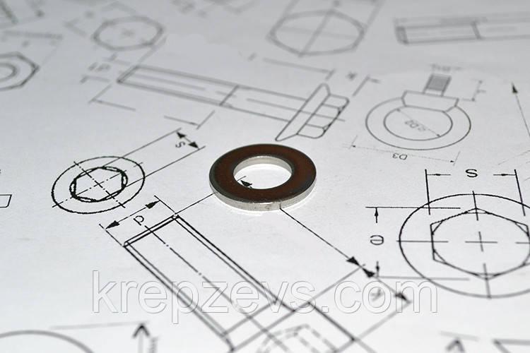 Шайба Ф20 плоская DIN 125 из стали А4