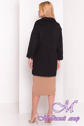 Женское черное кашемировое пальто (р. S, M, L) арт. Кларенс 1908 - 9794, фото 2