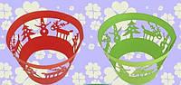 """Накладки для маффинов """"Елка,олень""""№151 6шт(цвет в ассорт.)(код 03530)"""