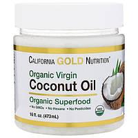 Сертифицированное Органическое кокосовое масло (нераф.) 473 мл Филиппины для California Gold Nutrition USA