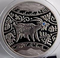 Монета Украины 5 грн. 2015 г. Год козы, фото 1