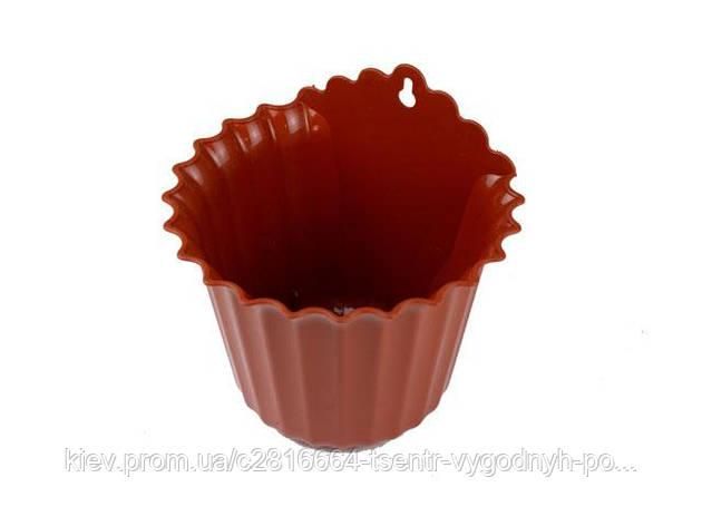 Вазон пристенный Астра 17*12,5 коричневый, фото 2