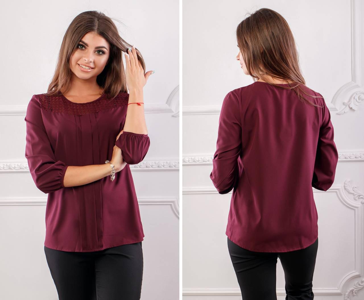 Блуза женская, модель 793/2, цвет - марсала