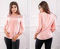 Блуза женская,  модель 793/2, цвет - розовая пудра