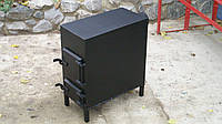 Буржуйка из стали 3 - 4 мм для отопления любых помещений и приготовления еды / ручная работа