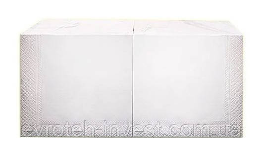 Салфетки бумажные белые 2 сл 33х33 200 штук