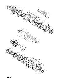 Подшипник пятой передачи F10 F13 МКПП 24 X 28 X 12 mm GM 5720537 0720560 0720557 0720541 55351857 90334082