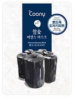 """Маска для лица с древесным углём """"Coony"""" Глубокое очищение кожи Корея KF0003"""