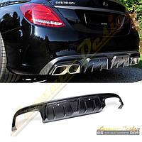 Диффузор стиль Brabus для Mercedes C-class W205, фото 1