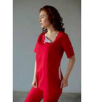 Костюм медицинский женский Bochi аИста 30160 (красный), 30060 (черный)