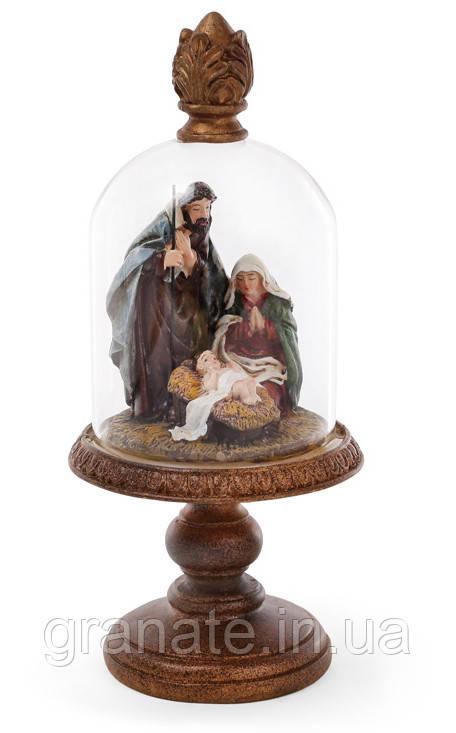 Статуэтка Вертеп под стеклянным колпаком 22 см