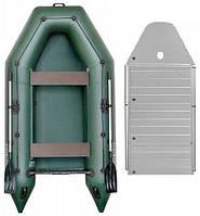 Надувная килевая моторная лодка Kolibri КМ-300D, алюминиевый настил