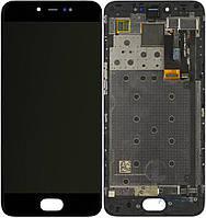 Дисплей Meizu Pro 6 Оригинал с сенсорным стеклом и рамкой Черный