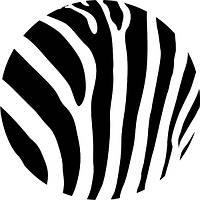 """Вафельные картинки """"Зебра круглая2"""" А4 (код 01262)"""