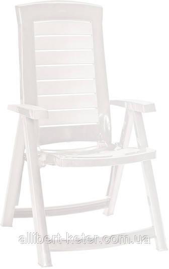Стілець - крісло Aruba білий (Allibert)