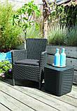 Стілець - крісло зі штучного ротангу TRENTON DINING капучіно (Allibert), фото 2