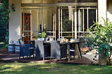 Стілець - крісло зі штучного ротангу TRENTON DINING капучіно (Allibert), фото 3