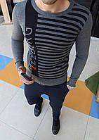 Стильная лёгкая мужская кофта серая Приятный к телу материал Приталенная модель Размеры: S-XXL