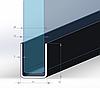 ODF-04-08-01-L2500 Профиль из нержавейки под стекло 10 мм (сатин), фото 2