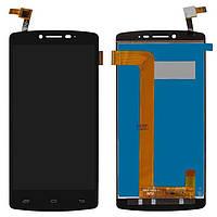 Дисплей Prestigio MultiPhone 5550 Duo Оригинал с сенсорным стеклом Черный
