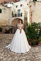 Роскошное свадебное платье а-силуэта «Abelie»