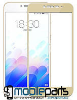 Защитное стекло для мобильного телефона Samsung J6 2018   J600(0,25 мм,3D)(Золотое)(Тех.упаковка,без салфеток)