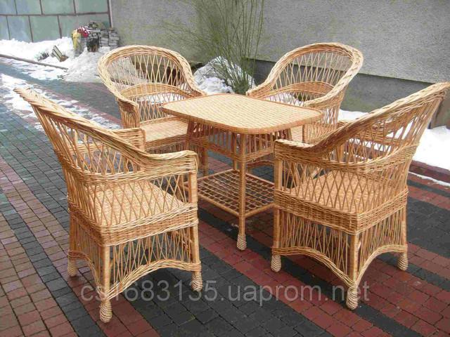 Наборы садовой плетеной мебели