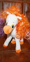 Мягкая игрушка лошадка с гривой