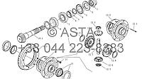 Карданный вал привода и планетарный редуктор передач (II) на YTO-X1204
