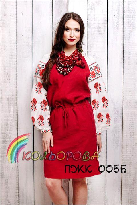ПЖК-0056. Плаття жіноче комбіноване