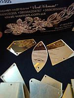 Дзеркальні пришивні стрази Shampagne (бежевий), мікс. 50 штук в уп., фото 1