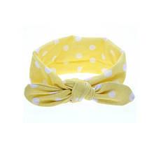 Жовта дитяча пов'язка в горошок - коло 40-50см
