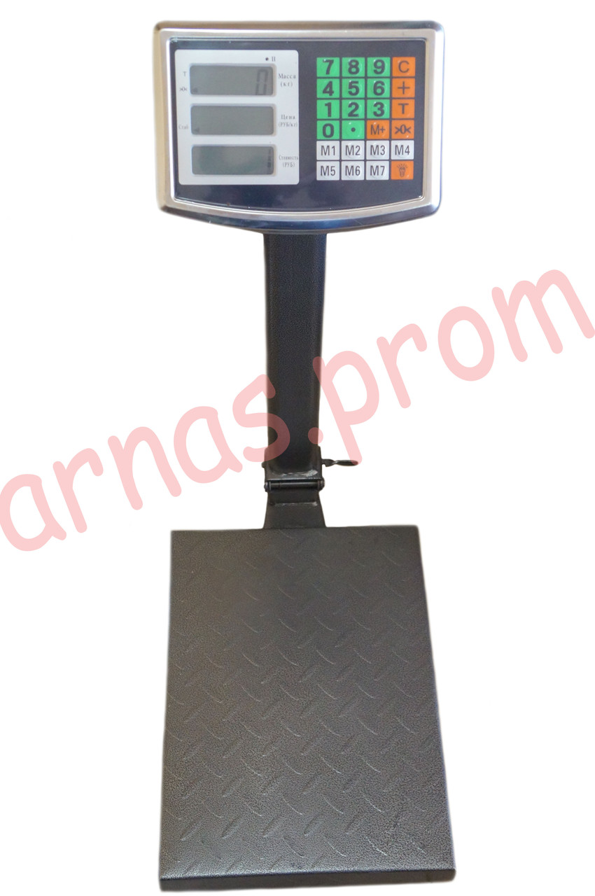Торговые электронные весы до 100 кг со стойкой