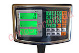 Торговые электронные весы до 100 кг со стойкой, фото 3