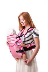 Кенгуру-рюкзак Умка №12 с поддержкой на талии св. розовый